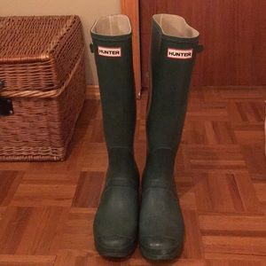 Green Hunter Boots - size 10!